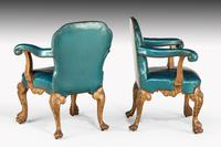 Pair of 19th Century Giltwood Armchairs by Morant & Co (4 of 8)
