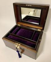 Antique Fitted Rosewood Jewellery Box (3 of 12)