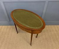 Edwardian Oval Inlaid Mahogany Writing Table (12 of 13)