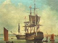 Seascape Oil Painting First Rate Man O War Ships Portsmouth Harbour Signed Brian Coole (8 of 39)