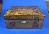 Victorian Burr Walnut  Box With Tunbridge Ware Inlay. (2 of 12)