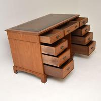 Antique Victorian  Walnut Pedestal Desk (6 of 11)