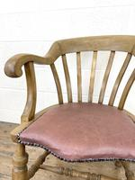 Early 20th Century Beech Smoker's Bow Chair (4 of 8)
