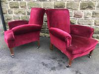 Pair of Antique English Upholstered Armchairs For Recovering (5 of 7)