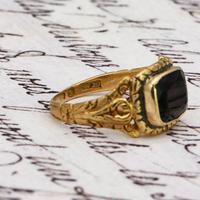 The Antique Georgian 1824 Rectangular Garnet Ring (3 of 5)