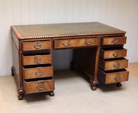 Large Mahogany Pedestal Desk (9 of 12)