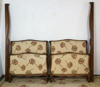 French Pair of Roll End Single Bed Frames with Slatted Bases (3 of 17)