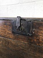 Early 18th Century Six Plank Oak Coffer (18 of 20)