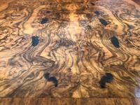 Pair of Antique Burr Walnut Bedside Tables (9 of 12)