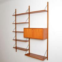 Danish Teak Vintage PS Wall System Bookcase Cabinet (2 of 6)