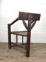 Antique Carved Oak Corner Chair (10 of 10)