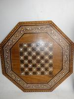 Indian Octagonal Folding Chess Top Table (7 of 8)