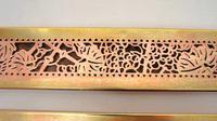 "Pair Tiffany Studios 12"" Brass Plated Desk Set  Blotter Ends 998  Grapevine (14 of 15)"