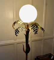 Unusual French Conservatory Painted Toleware Floor Lamp (5 of 10)