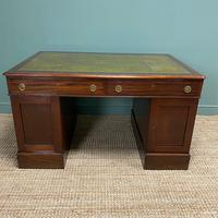 Large Victorian Mahogany Antique Partners Desk (10 of 10)