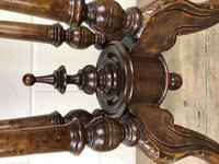 Victorian Walnut Oval Tilt Top Occasional Table (4 of 11)
