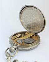 Antique 1930s Moeris Pocket Watch & Chain (5 of 6)