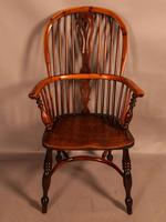 Good Yew Wood High Back Windsor Chair Rockley Maker (2 of 11)
