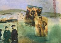 'Classical Golf' - Beautiful Signed Original 20thc Mixed Media Abstract Painting (8 of 11)