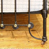 Late Victorian Cast Iron Antique Bed in Black (8 of 8)