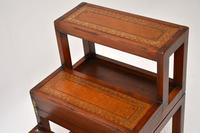 Antique Mahogany & Leather Folding Library Steps / Coffee Table (11 of 11)