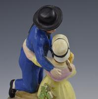 Early 19th Century Pearlware Marine Figure Group Sailor's Return (9 of 12)
