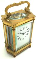 Rare & Unusual Cased Antique French 8-day Timepiece Carriage Clock c.1900 (3 of 10)