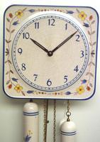 Rare Kitch Ceramic Pot Clock – Weight Driven 1950s Kitchen Striking Wall Clock (5 of 10)
