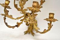 Pair of Antique Gilt Bronze Wall Sconce Candelabra (9 of 9)