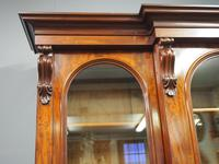Victorian Mahogany Breakfront Cabinet Bookcase (15 of 19)