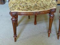 Set of Four Victorian Walnut Dining Chairs (3 of 6)