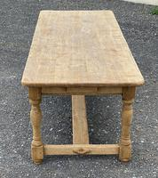 Large French Bleached Oak Farmhouse Table with Extensions (15 of 26)