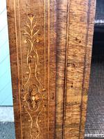 Antique Inlaid Walnut Display Cabinet (10 of 10)
