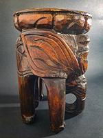 Carved Elephant Side Table (4 of 6)