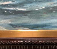 Awesome Tea Clipper Ship 'Hornet' Rough Seas Seascape Watercolour Painting c.1909 (10 of 12)