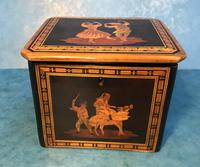 Victorian Italian  Sorento Ware Single Tea Caddy (8 of 16)