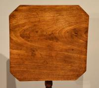 George III Mahogany Tripod Table Brass Casters (4 of 5)