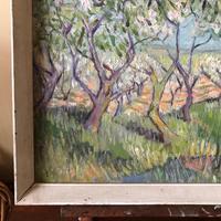 Impressionist Artist Gaussen - Oil on Board - Olive Trees c.1945 (4 of 9)