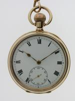Gold Filled Open Face Pocket Watch with Gold Filled Chain Swiss 1925 Ald Case (2 of 7)