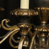 Italian Florentine Silver Giltwood 6 Light Chandelier (7 of 10)