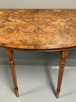 19th Century Burr Walnut Demi lune Console Table (2 of 6)