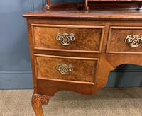 Burr Walnut Bow Fronted Dressing Table (8 of 19)