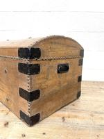 Rustic Antique Pine Dome Top Trunk (2 of 9)