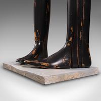 Antique Decorative Boot Tree, English, Beech, Ornamental, Shoe Last, Edwardian (12 of 12)