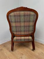 Unique Victorian Mahogany Library Arm Chair (6 of 7)