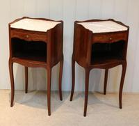 Pair of French Mahogany Inlaid Bedside Cabinets (5 of 10)
