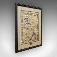 Antique Framed Sampler, English, Cross-Stitch, Apprentice, Victorian, Dated 1896 (2 of 10)