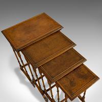 Antique Quartetto of Tables, English, Walnut, Mahogany, Nest, Edwardian, C.1910 (4 of 10)