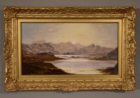 """Oil Painting Pair by Charles Leslie """"Mountain Landscapes"""" (7 of 9)"""