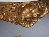 George II Style Marble Top Gilded Console Table (8 of 12)